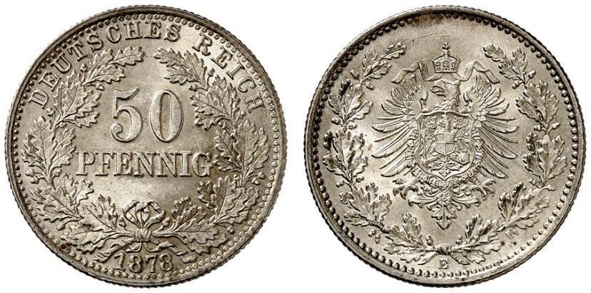 DE 50 Pfennig 1878 E