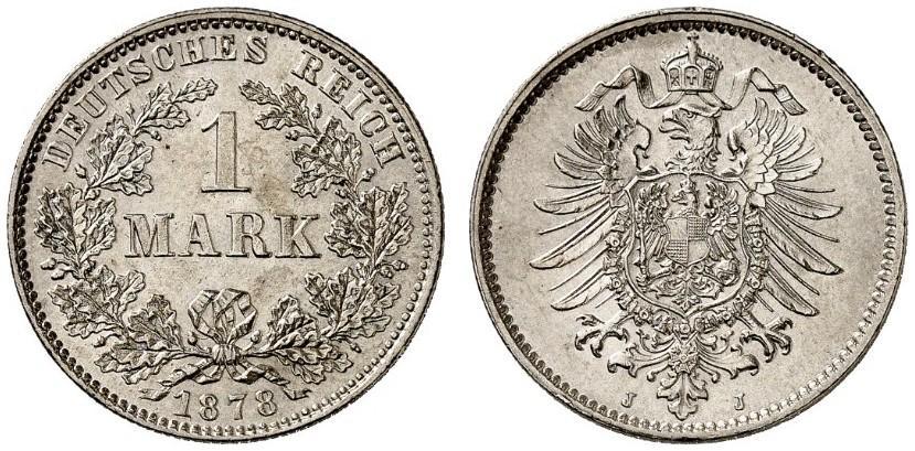DE 1 Mark 1878 J