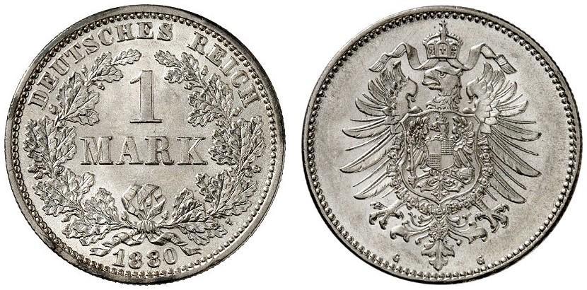 DE 1 Mark 1880 G