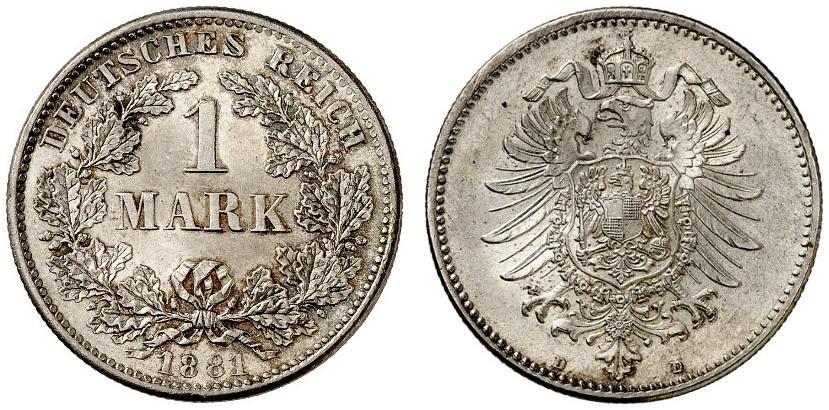 DE 1 Mark 1881 D