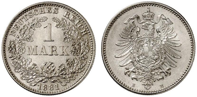 DE 1 Mark 1881 E