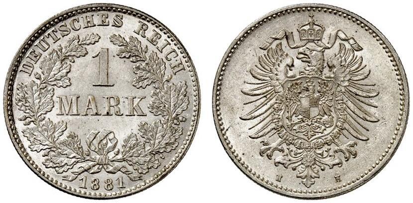 DE 1 Mark 1881 H