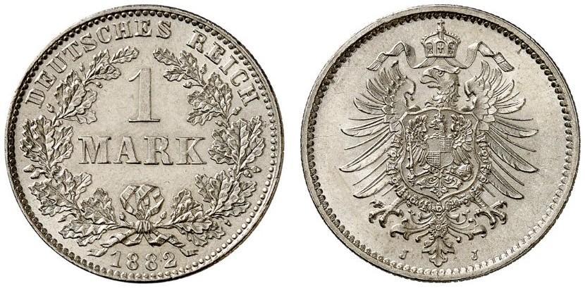 DE 1 Mark 1882 J