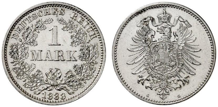 DE 1 Mark 1883 G