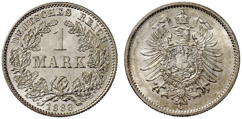 DE 1 Mark 1883 J