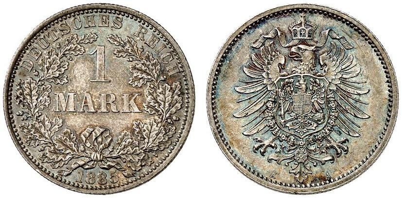 DE 1 Mark 1885 A
