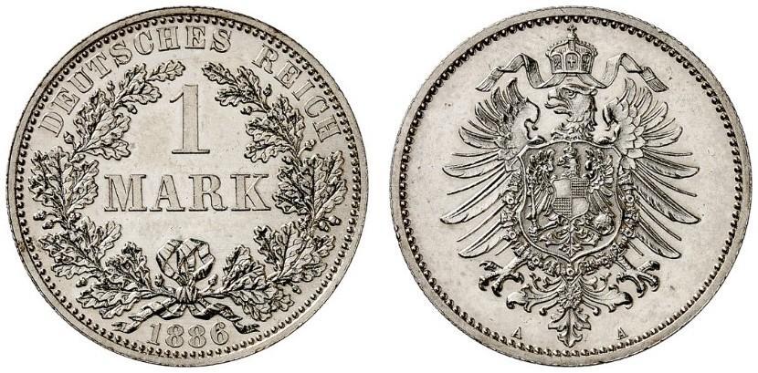 DE 1 Mark 1886 A