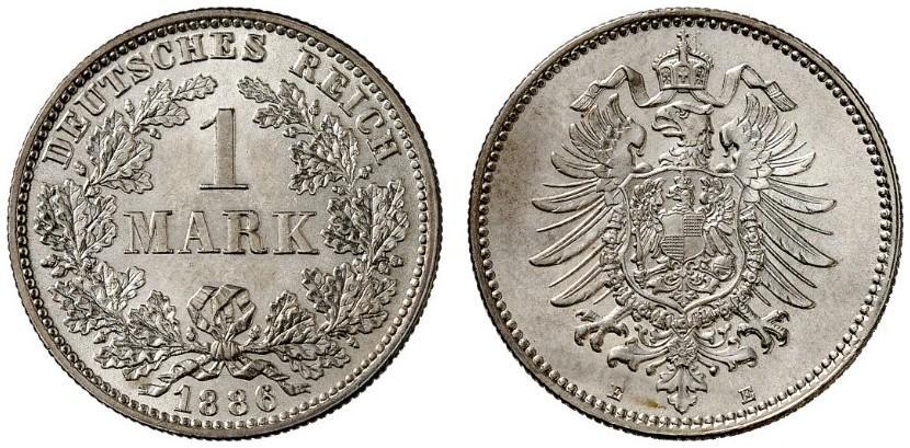 DE 1 Mark 1886 E