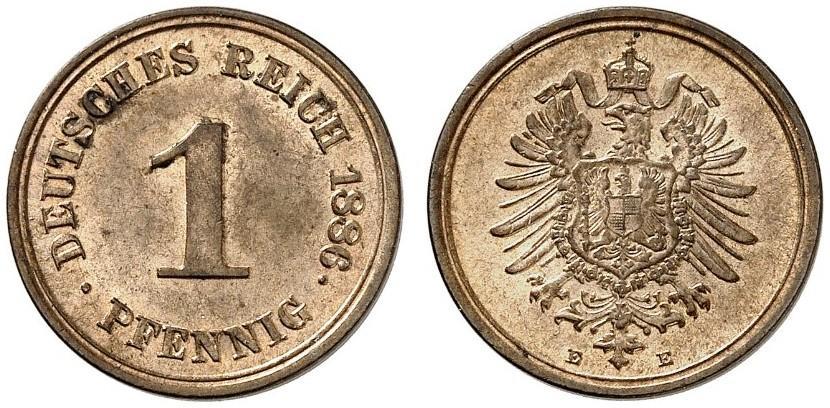 DE 1 Pfennig 1886 E
