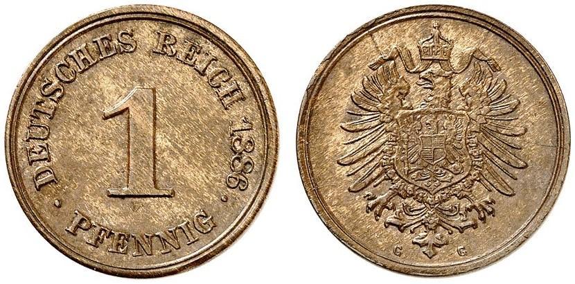 DE 1 Pfennig 1886 G