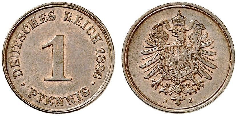 DE 1 Pfennig 1886 J
