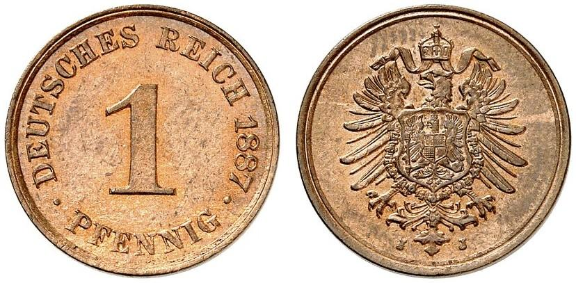 DE 1 Pfennig 1887 J