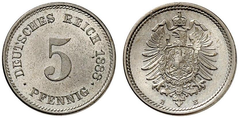 DE 5 Pfennig 1888 E
