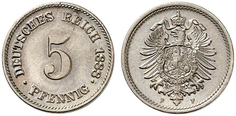 DE 5 Pfennig 1888 F