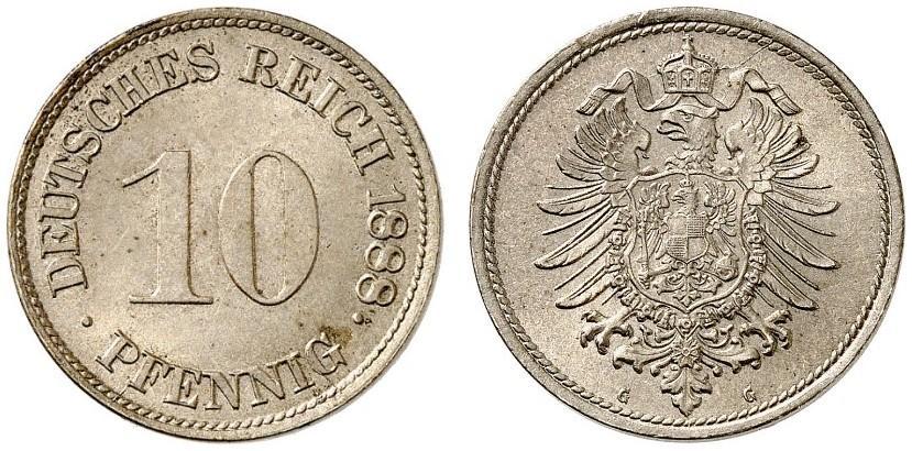 DE 10 Pfennig 1888 J