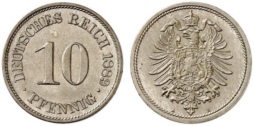 DE 10 Pfennig 1889 A