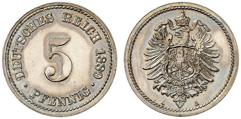 DE 5 Pfennig 1889 A