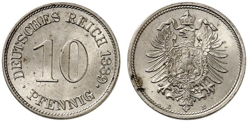 DE 10 Pfennig 1889 E