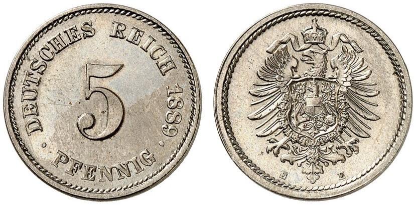 DE 5 Pfennig 1889 E