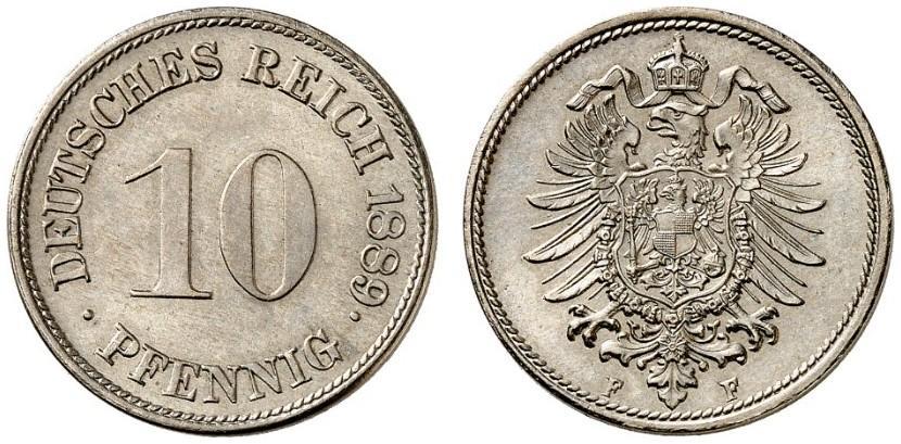 DE 10 Pfennig 1889 F