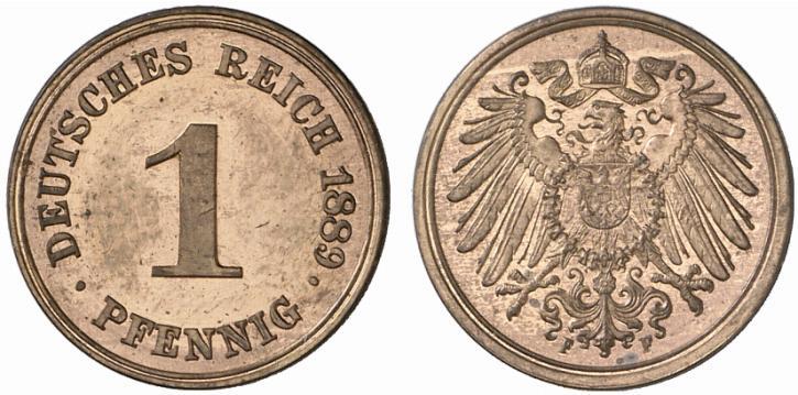 DE 1 Pfennig 1889 F