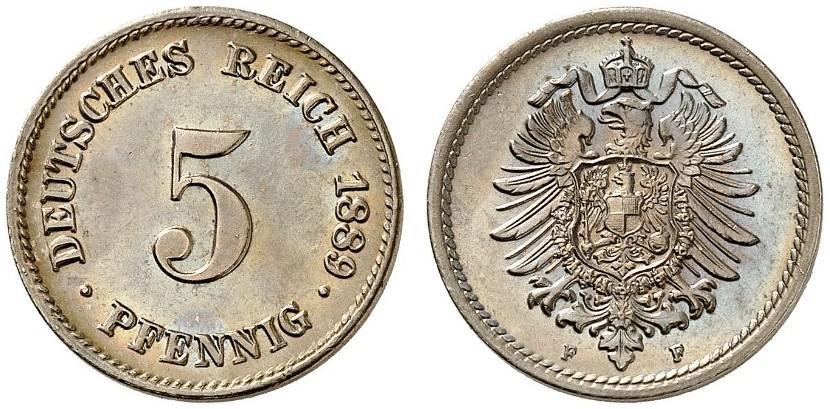DE 5 Pfennig 1889 F
