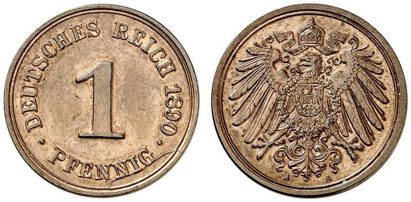 DE 1 Pfennig 1890 A