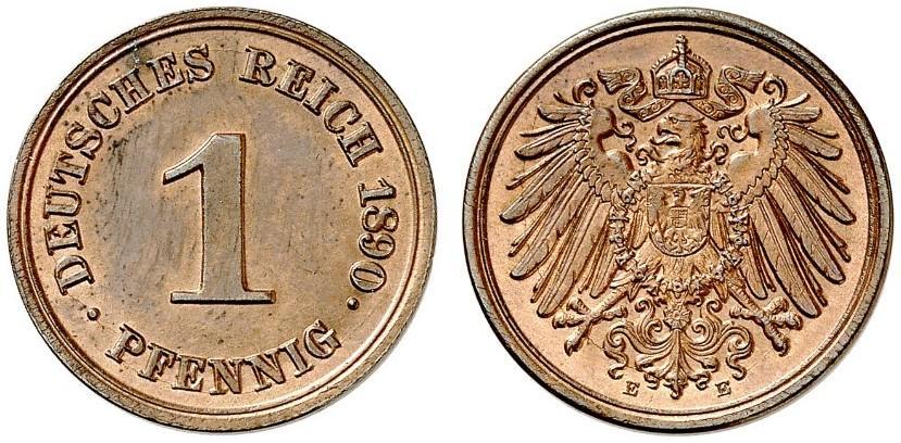 DE 1 Pfennig 1890 E