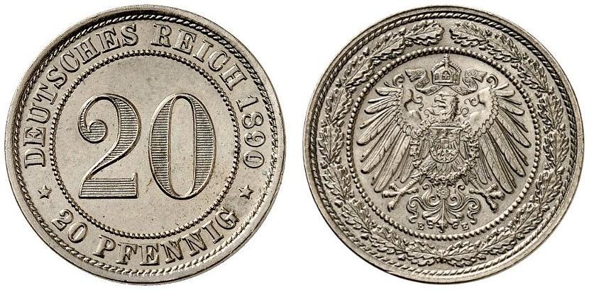 DE 20 Pfennig 1890 E