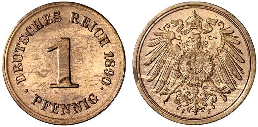DE 1 Pfennig 1890 F