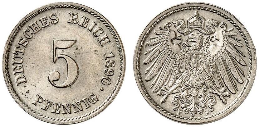 DE 5 Pfennig 1890 F