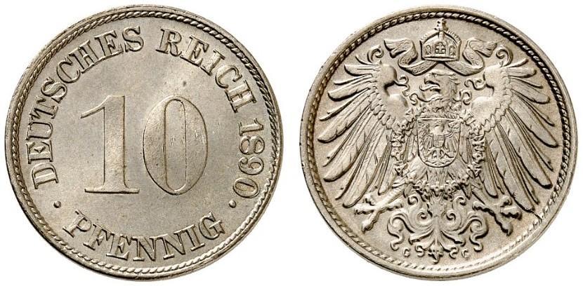 DE 10 Pfennig 1890 G