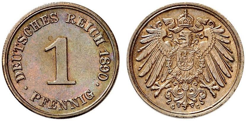 DE 1 Pfennig 1890 G