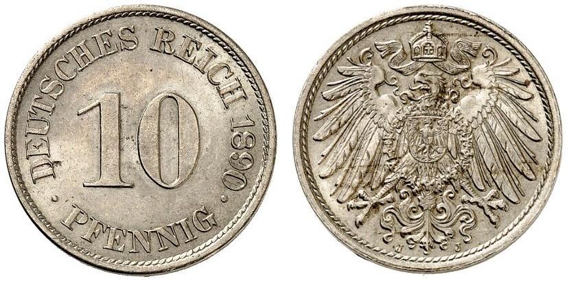 DE 10 Pfennig 1890 J