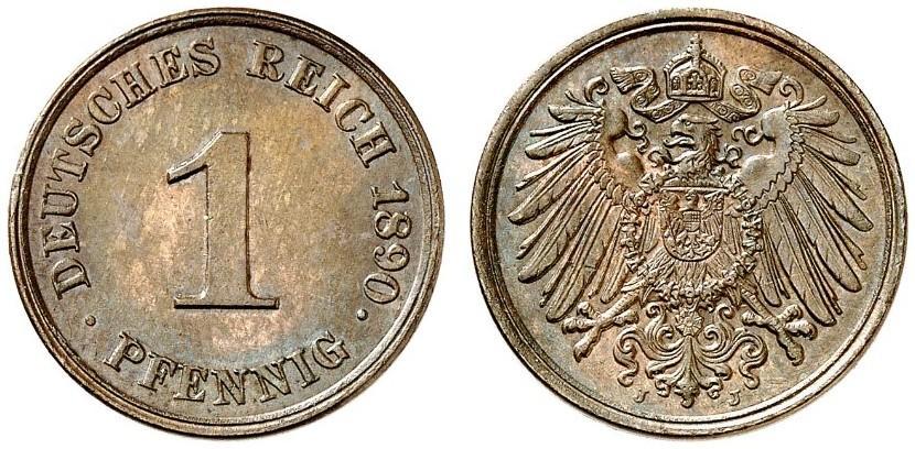 DE 1 Pfennig 1890 J