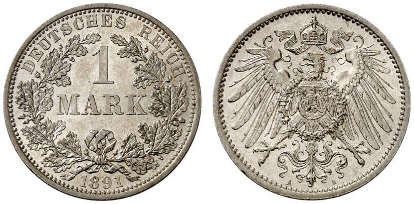 DE 1 Mark 1891 A