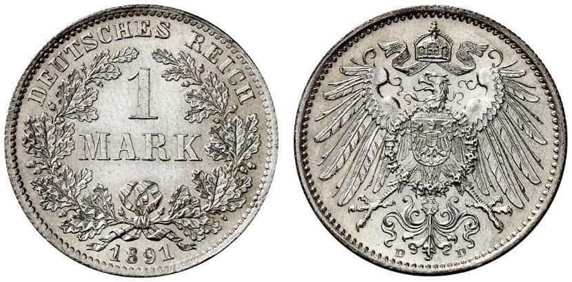 DE 1 Mark 1891 D