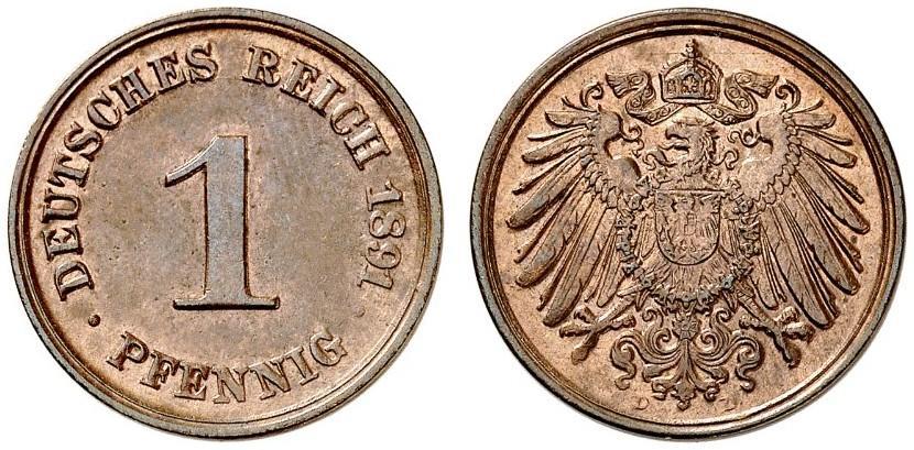 DE 1 Pfennig 1891 D