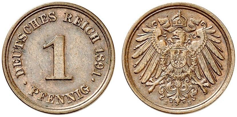 DE 1 Pfennig 1891 E