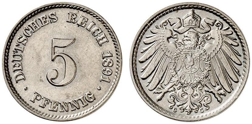 DE 5 Pfennig 1891 G