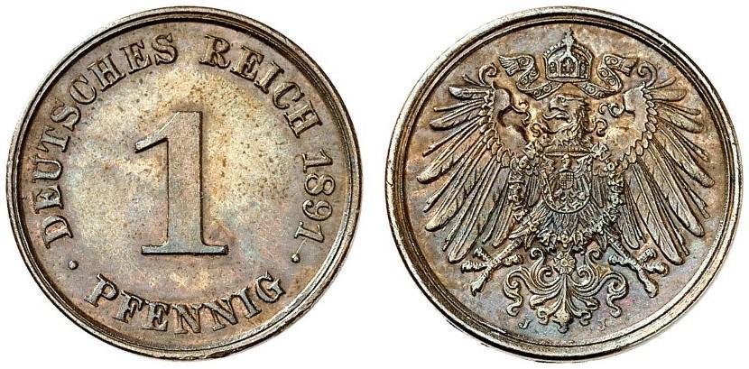 DE 1 Pfennig 1891 J