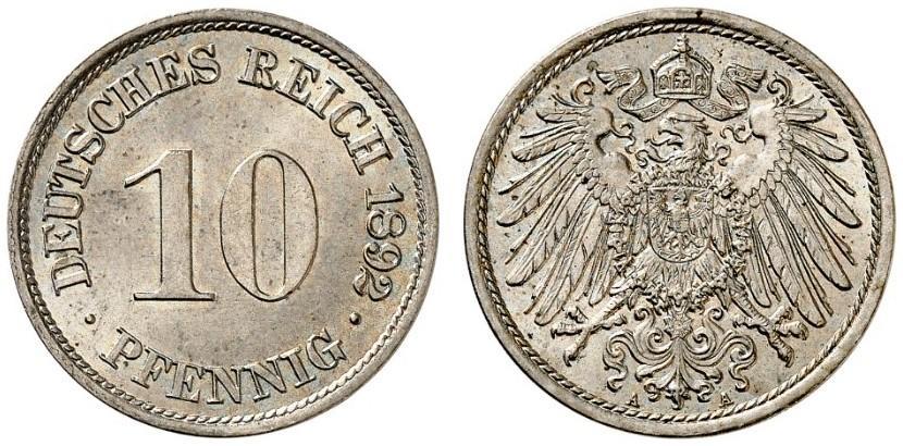 DE 10 Pfennig 1892 A
