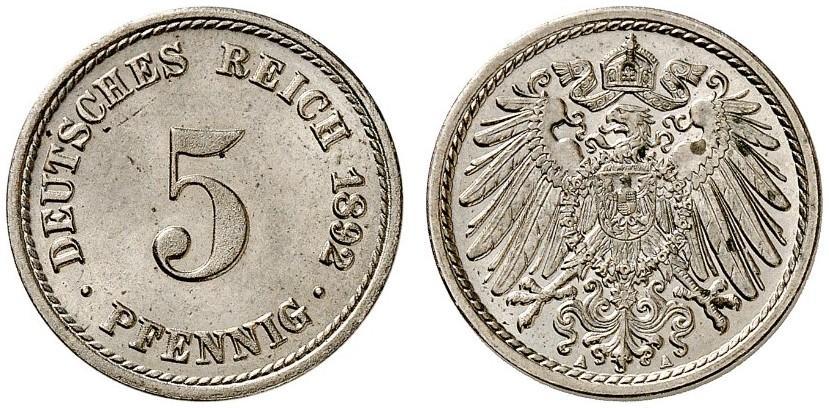 DE 5 Pfennig 1892 A