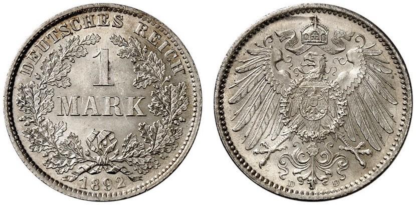 DE 1 Mark 1892 D