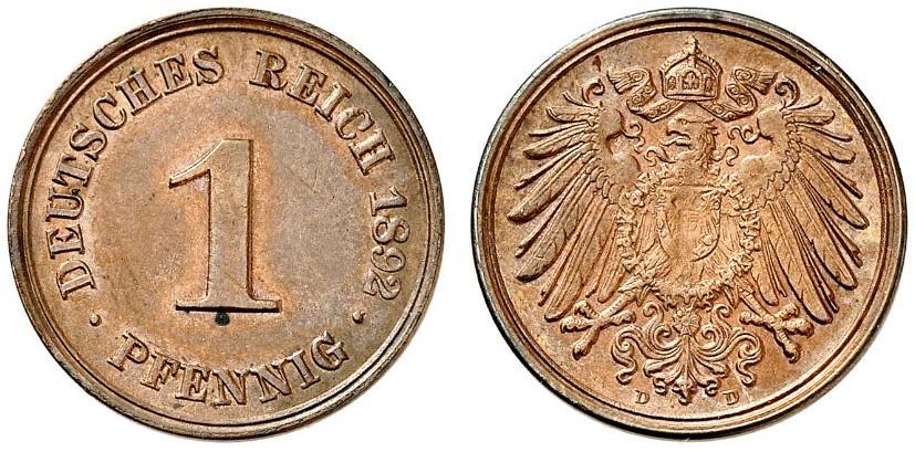 DE 1 Pfennig 1892 D
