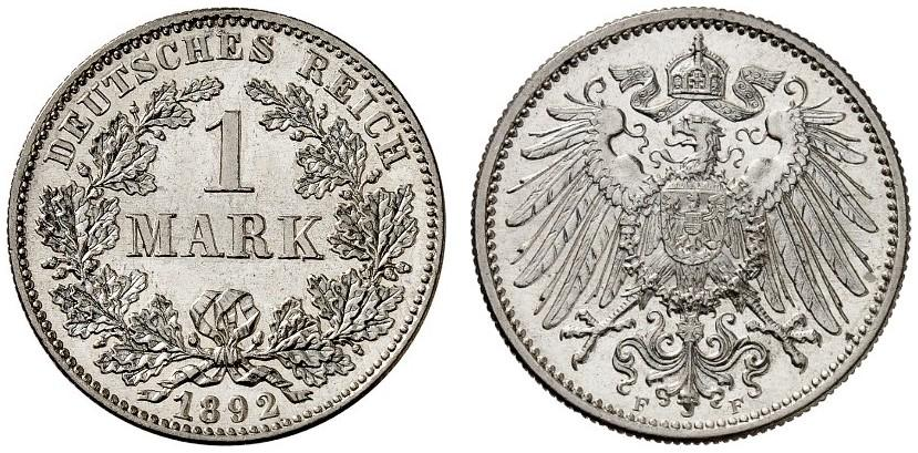 DE 1 Mark 1892 F