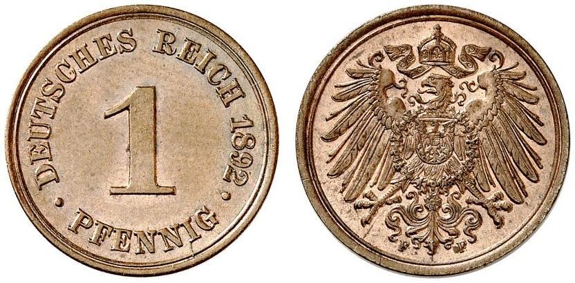 DE 1 Pfennig 1892 F