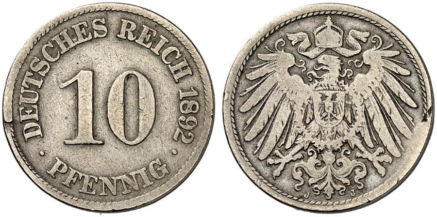 DE 10 Pfennig 1892 J