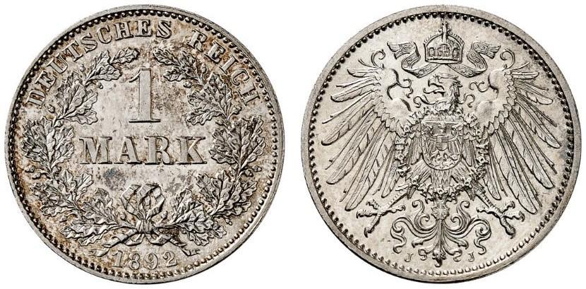 DE 1 Mark 1892 J