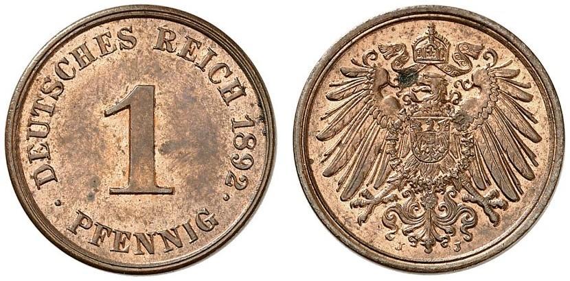 DE 1 Pfennig 1892 J